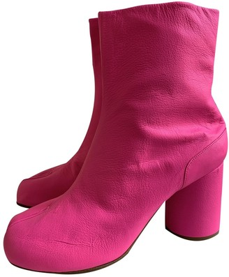 Maison Margiela Tabi Pink Leather Ankle boots