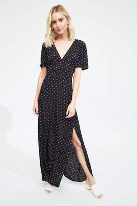 Miss Selfridge Womens Polka Dot Maxi Dress - Blue