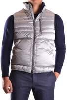 Geospirit Men's Silver Polyester Vest.