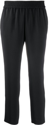 Alice + Olivia Benny cropped tapered-leg trousers