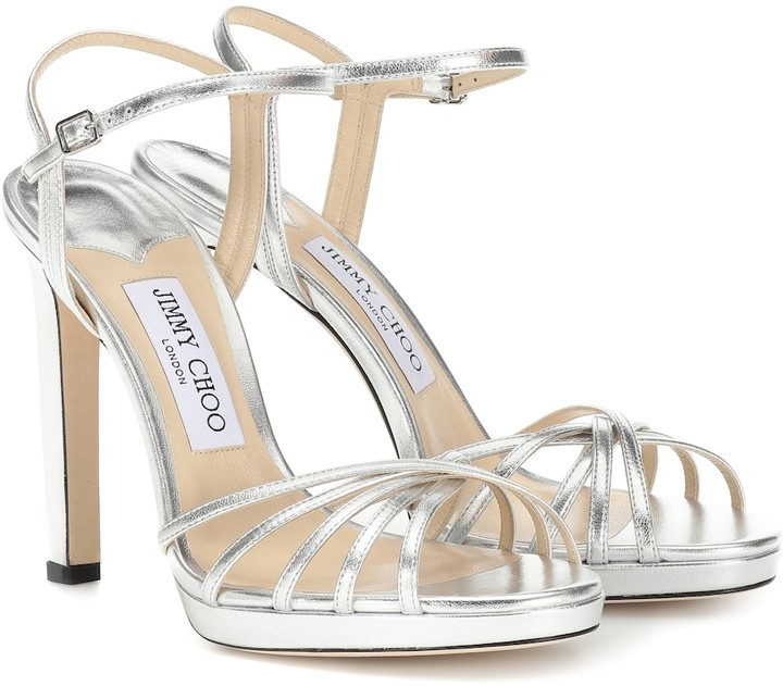 Jimmy Choo Lilah 120 leather sandals