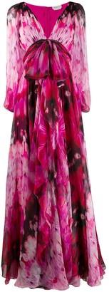 Alexander McQueen Endangered Flowers V-neck dress