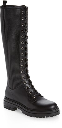 Gianvito Rossi Lace-Up Knee High Boot