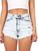 Batedan New Lady Women Denim Short Shorts Sexy Hot Pants Night Thong Clubwear Jean