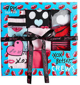 Betsey Johnson 9 Pack Jadore Betsey Crew Sock Gift Box