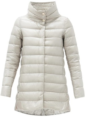 Herno Amelia Quilted Down Coat - Silver