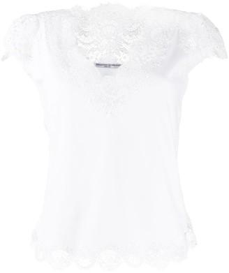 Ermanno Scervino slim-fit lace-embellished T-shirt