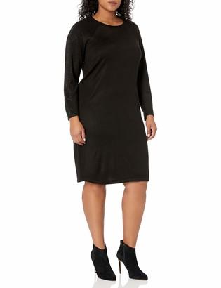 Calvin Klein Women's Plus Size Hot Fix Sleeve Sweater Dress Sheath