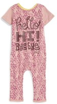 Infant Girl's Rags To Raches Triangle Print Romper