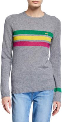 Bella Freud Daytona Sparkle Stripe Crewneck Sweater
