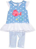 Nannette 2-Pc. Fish Tunic and Capri Leggings Set, Baby Girls (0-24 months)