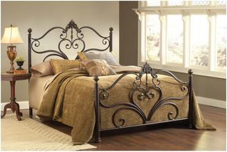 Hillsdale Furniture Hillsdale Newton Bed Set Queen w/ Rails, Antique Brown Highlight -1756
