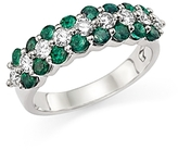 Bloomingdale's Diamond and Emerald Ring in 14K White Gold - 100% Exclusive
