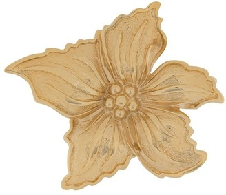 Christian Dior 1980s Pre-Owned Flower Brooch