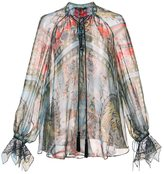 Roberto Cavalli printed drawstring blouse
