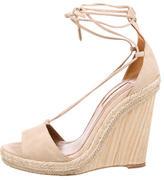 Aquazzura Suede Wedge Sandals
