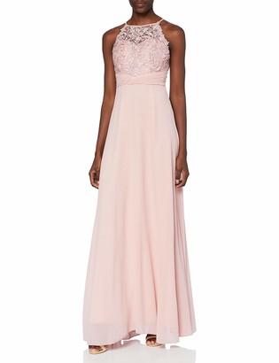 APART Fashion Women's Apart bezauberndes Damen Kleid Lang Abendkleid Ballkleid transparente Spitze teilweise blickdicht unterlegt Empire Special Occasion Dress