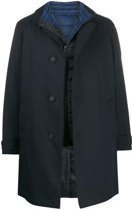 HUGO BOSS layered gilet coat