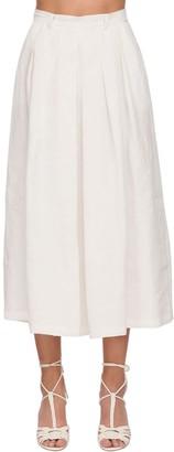 Ralph Lauren Crop Linen Wide Pants Skirt