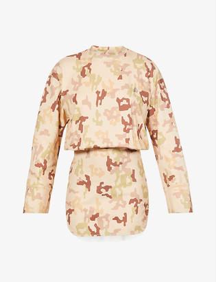 ATTICO Palmer graphic-print cotton-jersey mini dress