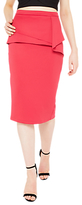 Miss Selfridge Origami Pencil Skirt, Fushia Rose