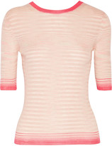 Missoni Ribbed-knit cashmere-blend top