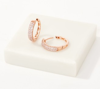 Affinity Diamond Jewelry Affinity 14K Gold Natural Pink Diamond Hoop Earrings, 1/2cttw