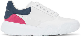 Alexander McQueen White and Pink Court Trainer Sneakers