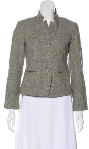148 Wool-Blend Long Sleeve Blazer