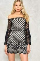Nasty Gal nastygal Gridlock Off-the-Shoulder Dress