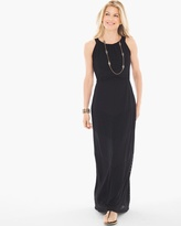 Chico's Texture Detail Maxi Dress in Black