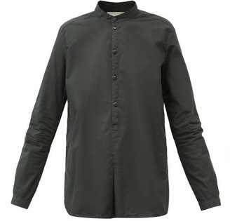 Toogood The Botanist Stand-collar Cotton-poplin Shirt - Dark Green