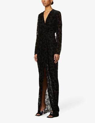 Veronica Beard Ruthie devore woven maxi dress