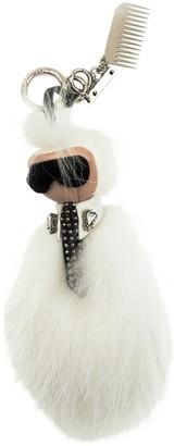 Fendi Karlito White Mink Bag charms