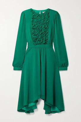 Jason Wu Asymmetric Ruffled Chiffon Dress - Jade