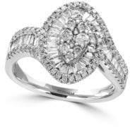 Effy Classique Diamond and 14K White Gold Ring
