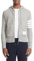 Thom Browne Men's 'Classic' Stripe Sleeve Full Zip Hoodie