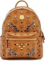 MCM 'Small Stark - Visetos' Studded Backpack
