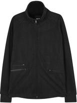 Y-3 Grain Black Zipped Cotton Sweatshirt