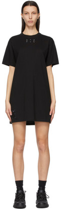 McQ Black Jersey Jack Branded T-Shirt Dress