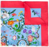 Gucci Floral Snake print scarf - women - Silk - One Size