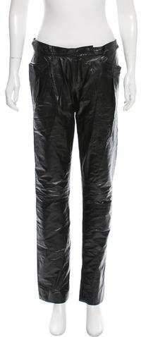 Theyskens' Theory Mid-Rise Straight-Leg Pants