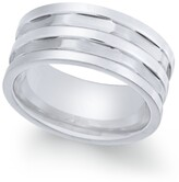 Thumbnail for your product : Sutton by Rhona Sutton Men's Stainless Steel Multi-Row Cut Band