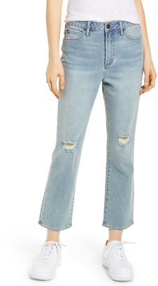 Articles of Society Kate Ripped High Waist Crop Jeans