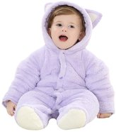 Happy Cherry Baby Infant Winter Thick Romper Jumpsuit Feet Cover Outwear Coat for 0-4M