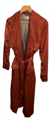House Of CB Burgundy Polyester Coats