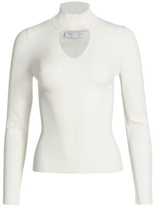 Proenza Schouler White Label Cutout Compact Knit Turtleneck