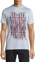 Brioni Short-Sleeve Printed T-Shirt, Silver