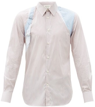 Alexander McQueen Harness Striped Cotton-blend Shirt - White Multi