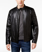 MICHAEL Michael Kors Men's Lightweight Faux-Leather Moto Jacket